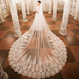 3 Meter Lace Bridal Veil - SALE LAB