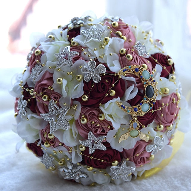 Charming Moon Star Brooch Bouquet - SALE LAB