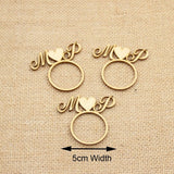 50 Pcs Personalized Acrylic Wood Laser Cut Napkin Ring with Heart - SALE LAB