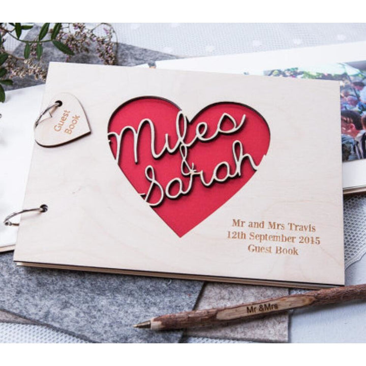 Personalized Heart Guest Book - SALE LAB