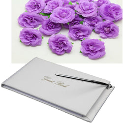 Wedding Guest Book with Silver Pen - SALE LAB