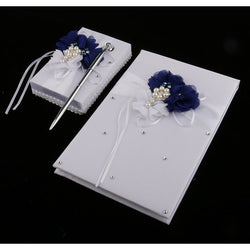 Satin Guest Book & Pen Set - SALE LAB