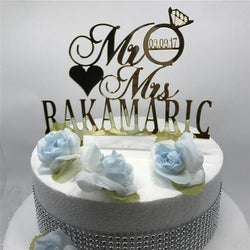 Mr & Mrs Cake Topper - SALE LAB