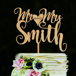 Custom Wooden Cake Topper - SALE LAB