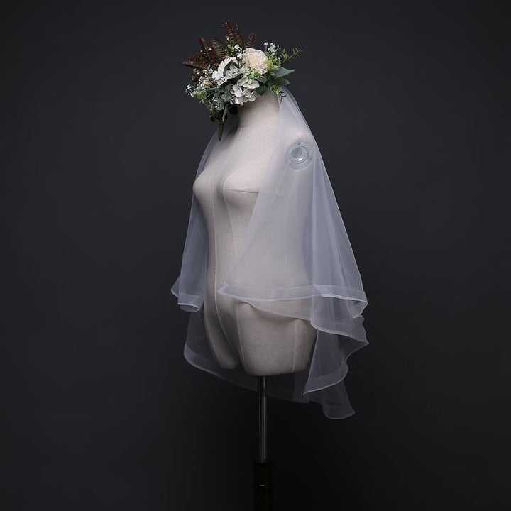 Ribbon Edge Tulle Veil - SALE LAB