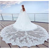 New Arrival Luxury 4 Meters  Edge Lace Veil - SALE LAB