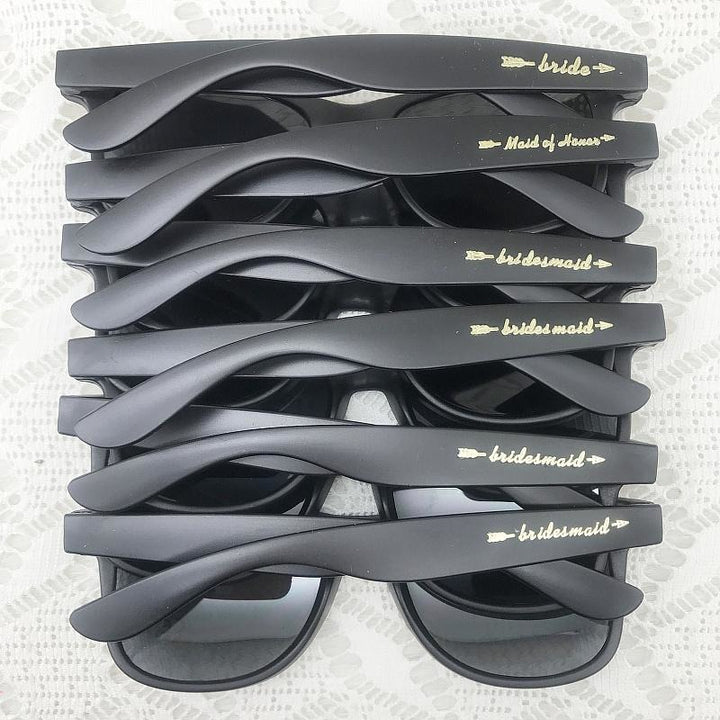 6 Pairs Bridal Party Sunglasses - SALE LAB