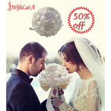 Handmade Crystal Bridal Wedding Bouquet - SALE LAB