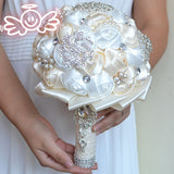 Rose Crystal Wedding Bouquet - SALE LAB