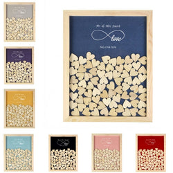 Wooden Frame Guest Book