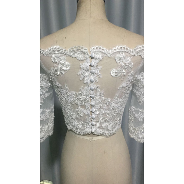 Beaded Wedding Bolero - SALE LAB