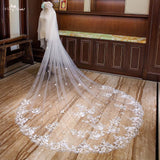 Two Layer Cathedral Wedding Veil - SALE LAB