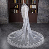 3 Meters Sequins Lace Cathedral  Wedding Veil - SALE LAB
