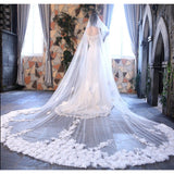 4 Meters Lace Edge Luxury Veil - SALE LAB