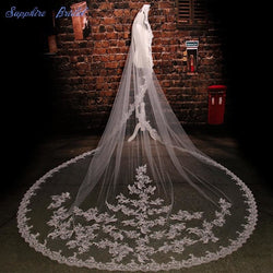 Sparkling Lace Bridal Veil - SALE LAB