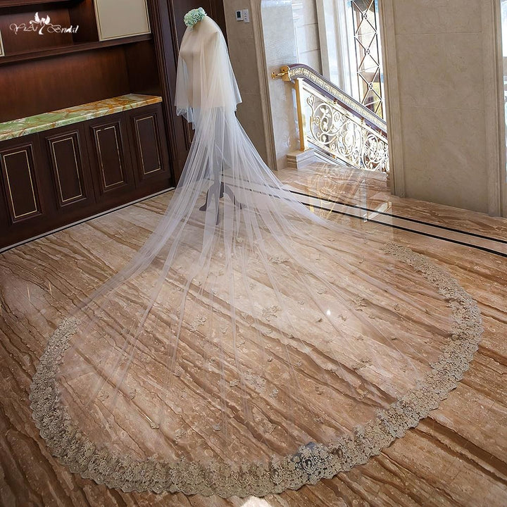 3.5 MeterTwo Layer Cathedral Wedding Veil - SALE LAB
