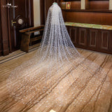 3.5 Meters  Two Layer Cathedral Wedding Veil - SALE LAB