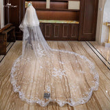 3.5 Meters Elastic Edge Flowers Veil - SALE LAB
