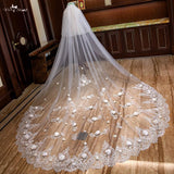 3.5 Two Layer Cathedral Wedding Veil - SALE LAB