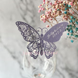 60pcs Butterfly Laser Name Place Card - SALE LAB
