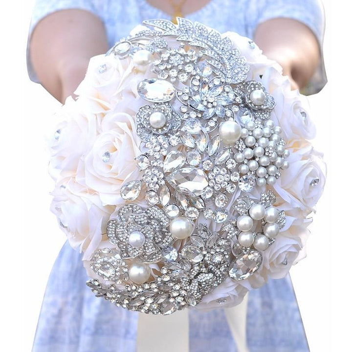 Crystal Brooch Bouquet - SALE LAB