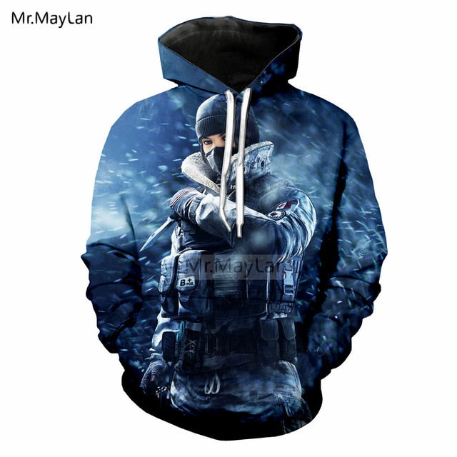 Shooting Game Rainbow Six Siege 3D Print Hoodie - SALE LAB