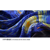 Van Gogh Oil Painting Pure Silk Scarf - SALE LAB