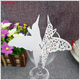 100 Pcs Butterfly Glass Paper Place Cards - SALE LAB