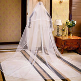 Ribbon Edge Wedding Veil
