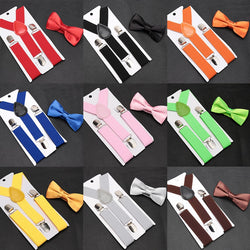 Kids Suspender with Bowtie - SALE LAB