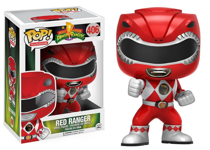 Funko Television Pop! Power Rangers - Red Ranger #406 - Videguy Collectibles