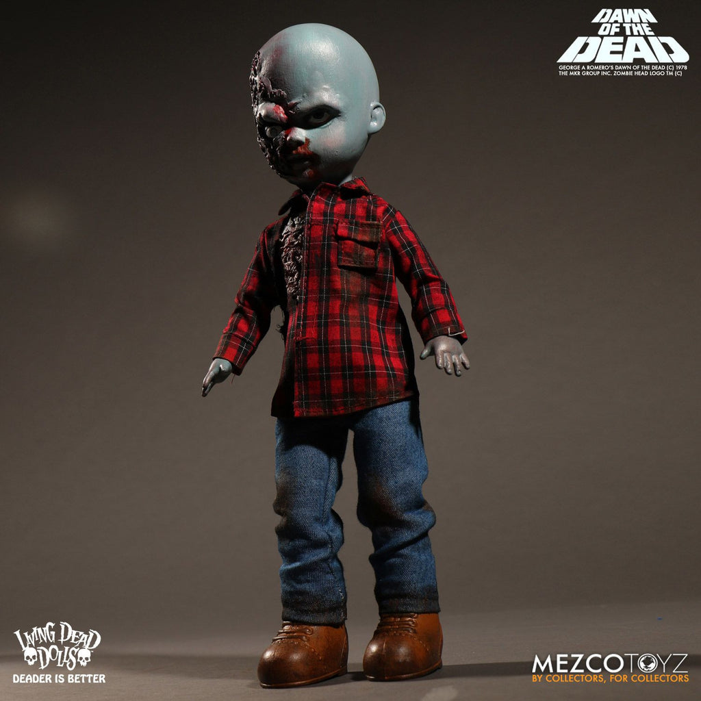 Mezco Living Dead Dolls Dawn of the Dead: Plaid Shirt Zombie