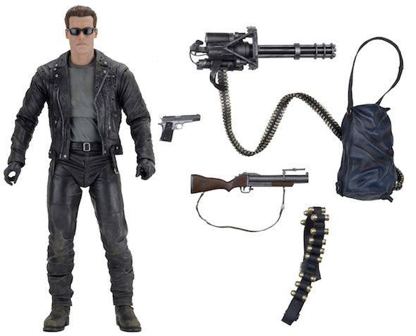 NECA - Terminator 2 T-800 - 1/4 Scale Action Figure - Free Shipping<br>Pre-Order