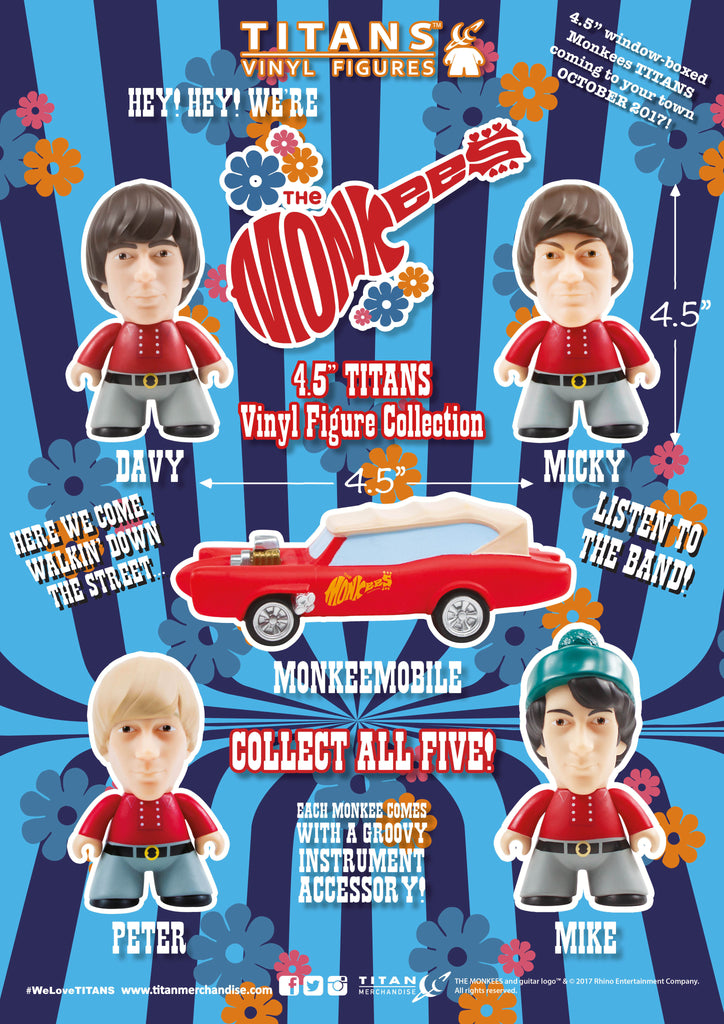 "Titans Vinyl Figures - The Monkees 4.5"" Micky Titans Vinyl Figure"