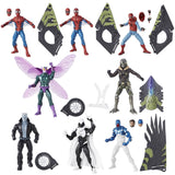 Set of 7 Marvel Legends Action Figures Wave 8 - Spider-Man Homecoming Includes all pieces for Vulture Wings