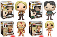 Set of 4 Funko Animation Pop! - Attack on Titan 2 Regular & 2 6in Super Sized Pop!s<br>Pre-Order