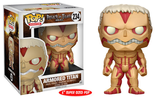 Funko Animation Pop! - Attack on Titan Armored Titan 6in Super Sized #234<br>Pre-Order