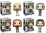 Set of 4 Funko Television Pop! - Alias - Sidney Bristow Blonde, Goth, Red Head, & School Girl