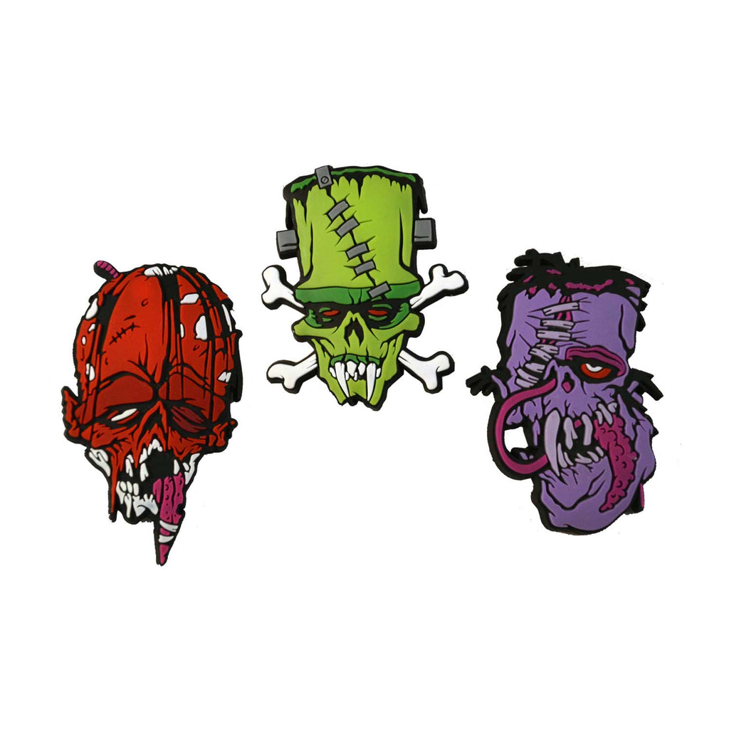 Toxic Toons Ugly Heads Badge Set