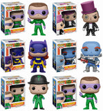 Set of 6 Funko DC Heroes Pop! Batman 1966 - All 5 Regular Pop!s+ Chase