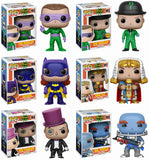 Set of 6 Funko DC Heroes Pop! Batman 1966 - All 5 Regular Pop!s + Chase