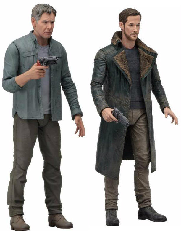 "Set of 2 NECA: Blade Runner 2049 - 7"" Scale Action Figure - Series 1 - Deckard & Officer K"