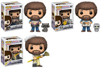 Set of 3 Funko Television Pop! - Bob Ross Joy of Painting - 2 Regular and 1 Chase - Pre-order