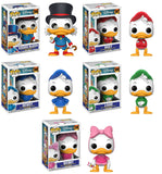 Set of 5 Funko Disney Pop!s: Ducktales - Scrooge McDuck, Huey, Dewey, Louie, and Webby