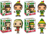 Set of 4 Funko Movies Pop! - Elf - Jovie, Buddy, Buddy Chase and Papa Elf- Pre-Order