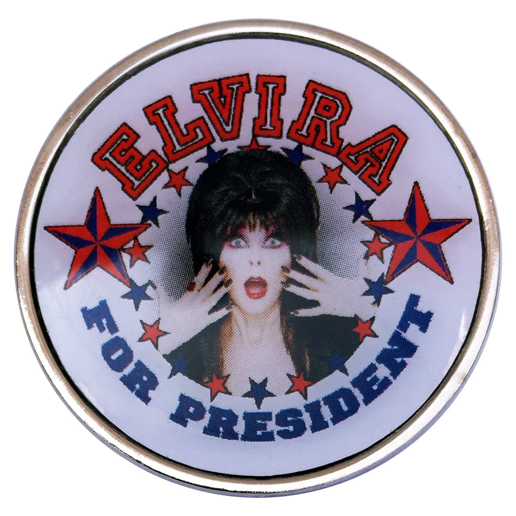 Elvira for President Pin