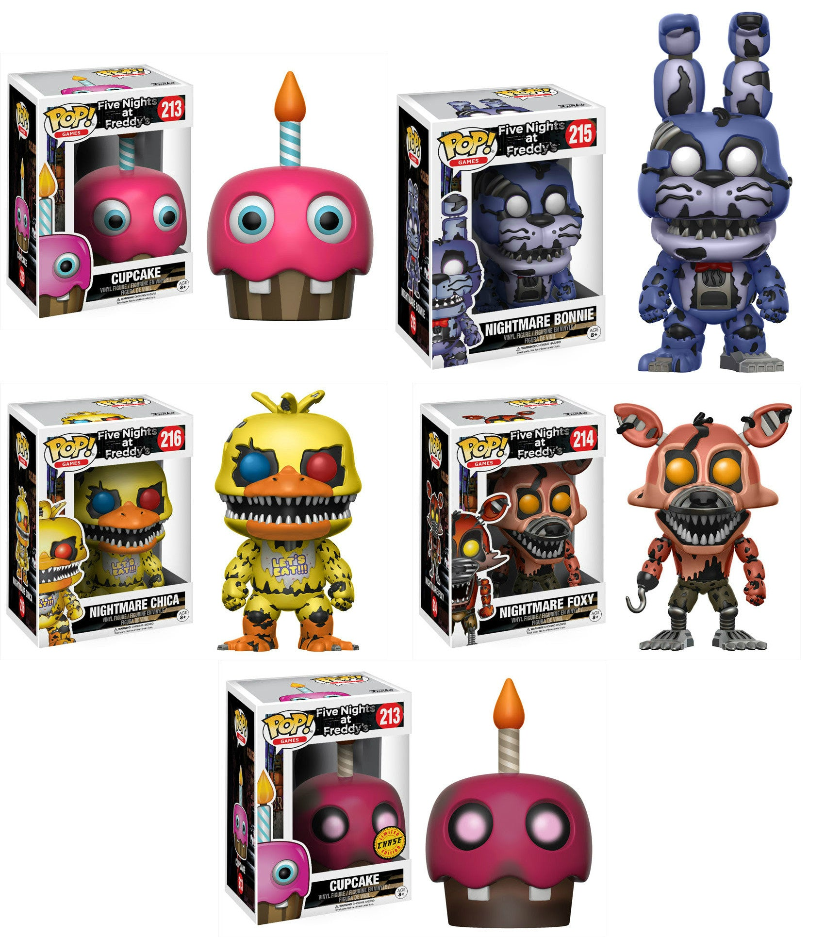 Funko Five Nights at Freddy/'s Nightmare Edition Collectible Vinyl Figure Set
