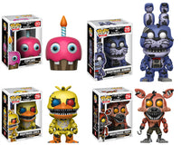 Set of 4 Funko Games Pop! Five Nights at Freddy's - Cupcake - Bonnie - Chica - Foxy
