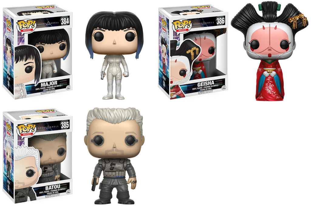 Set of 3 Funko Movies Pop! Ghost in the Shell - Batou, Major, Geisha <br>Pre-Order