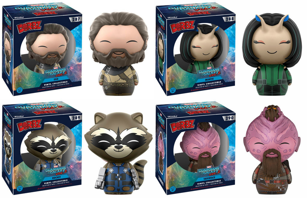 Set of 4 Funko Dorbz Guardians of the Galaxy Vinyl Figures